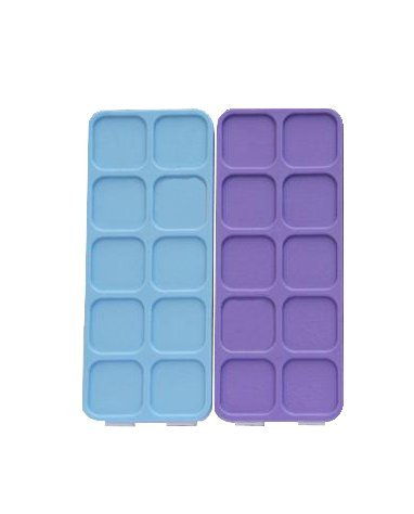 1Pcs 10 wells Plastic Palette Box with Soft Cover for Watercolor Clip-on sets, Acrylic Paints 7''X 6''x1.2'''