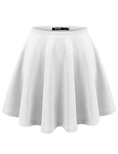 White Sequin Pleated Skirt - 3