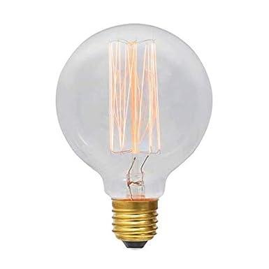 Retro-Edison-Stil Globus Energieklasse A Spirale zur Raumdekoration E27 E27 60.00W 220.00V Schraube Gl/ühbirne im Vintage-Stil glas