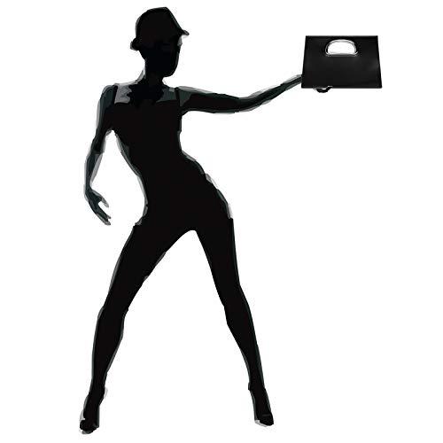 Asas Ta409 Xl Negro Para De Mano Semicirculares Fiesta Caspar Con Metálicas Bolso Mujer clutch Afxq4qRW