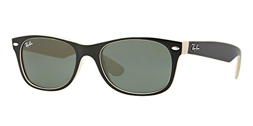 Ray Ban RB2132 875 52M Black On Beige/Green (2132 Ban Ray Sunglasses)
