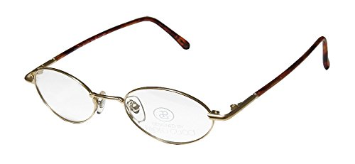 Paolo Gucci 7431 R2 Mens/Womens Oval Full-rim Eyeglasses/Spectacles (47-19-140, Gold / - Gold Gucci Logo