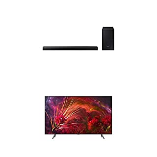 "Samsung QN65Q8F Flat 65"" QLED 4K Ultra HD Smart TV (2018) with Samsung 2.1-Channel Soundbar Home Speaker, Black, Set of 2 (HW-N450/ZC) Bundle (B07L3BY8NN) 