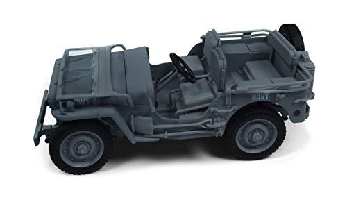(1941 Willys MB Jeep WWII Navy Blue Grey 1/18 Diecast Model Car by Autoworld AWML001 B (Renewed))