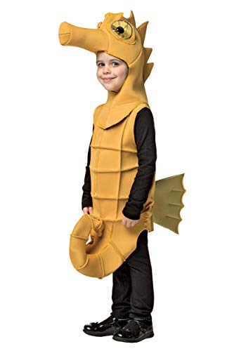 Rasta Imposta Seahorse Outfit Funny Theme Fancy Dress Toddler Child Halloween Costume, Child S (4-6) Yellow -