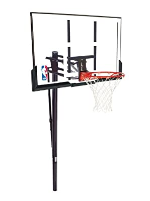 Spalding 52in In-Ground Acrylic Backboad Basketball System