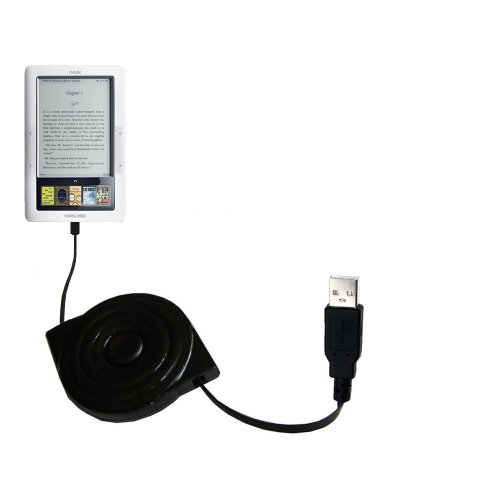 compact and retractable USB Power Port Ready charge cable designed for the Barnes and Noble Nook 3G Wi-Fi and uses TipExchange