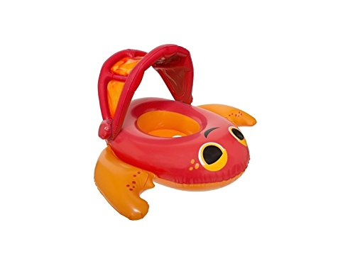 SwimWays Sun Canopy Baby Boat Crab Baby Float Inflatable Bab