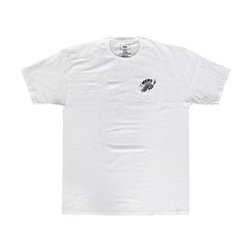 (Vans Off The Wall Men's Graphic T-Shirt (Cheers OTW White, L))