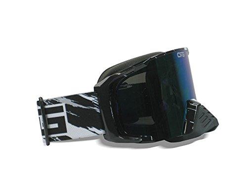 CRG Motocross ATV Dirt Bike Off Road Racing Goggles Adult T815-157 Series (Black) by CRG Sports (Image #2)