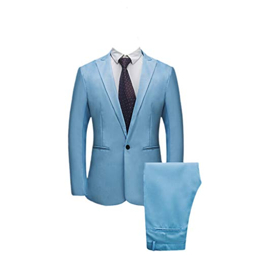 Realdo Mens 2 Pieces Suit,Mens Slim Fit One Button Business Wedding Banquet Blazer & ()