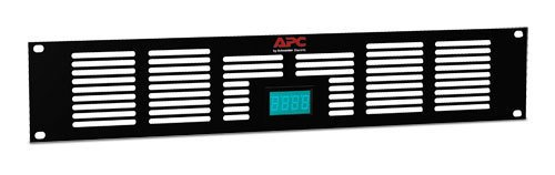 Vent Panel - Black - with Temperature Display by APC