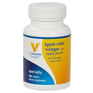 The Vitamin Shoppe Apple Cider Vinegar with Apple Pectin 108 MG A Fermented Superfood with 25 Acetic Acid, Supports Digestive Health (300 Tablets) Review