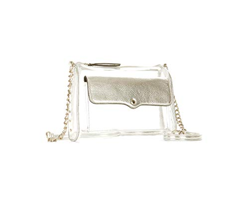No Boundaries Clear Crossbody Purse with Silver