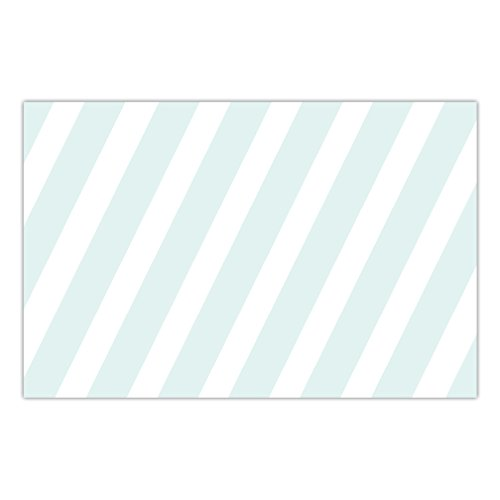 DB Party Studio Paper Place Mats 25 Pack Festive Blue Stripe Baby Shower Boy Baptism Parties Son Christening Event Disposable Dining Placemats Brunch Dinner Table Setting Quick Cleanup 17