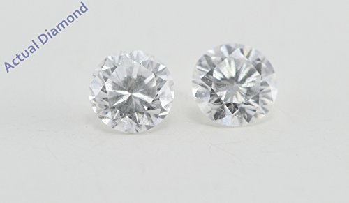 Boucles d'oreilles avec diamant Rond Or jaune-585/1000( 0.48 Ct, F Couleur, VS1 Clarté)