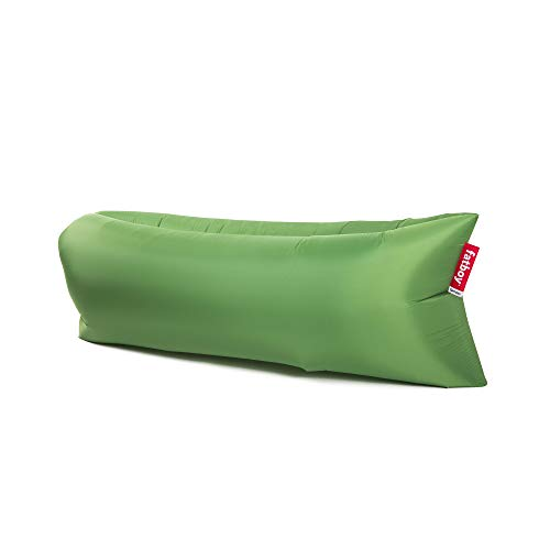 Fatboy Lamzac The Original Version 1 Inflatable Lounger with Carry Bag, Inflatable Couch for Indoor or Outdoor Hangout or Inflatable Lounge Air Chair - Grass Green