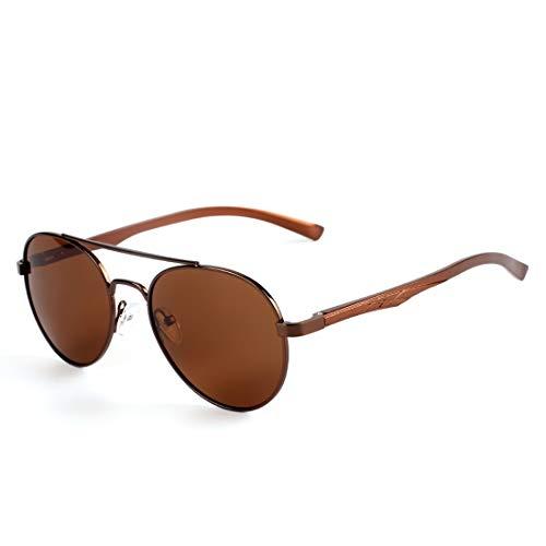 Color Sol Frame de Black Retro polarizadas Gafas Lens Tea Hombres Gafas de Tea Gun Sol Lens Frame Sakuldes polarizadas Redondas Swn6OWA