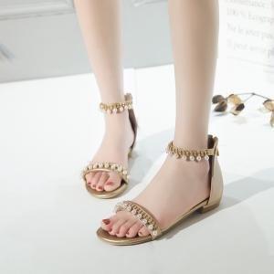 hexiajia - Zapatos Planos con Cordones mujer dorado