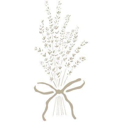D/écoration vintage Dimensions/: 12/x 12/cm Tiges de lavande Pochoir Taille du design/:4,5 x 10 cm Todo-Stencil 074