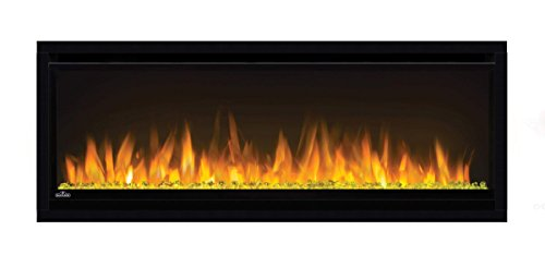 Napoleon Flush - Napoleon NEFL42CHS Alluravision Slimline Linear Electric Fireplace, 42-inch