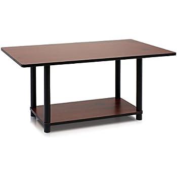 Furinno 99192dc Bk Turn N Tube Coffee Table Dark Cherry Black