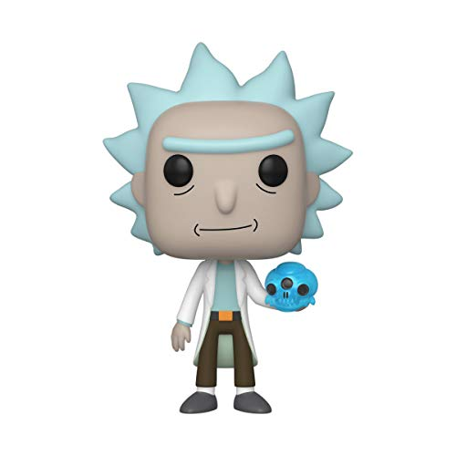 Funko- Pop Animation Rick & Morty-Rick w/Crystal Skull and Morty Collectible Toy, Multicolor (45438)