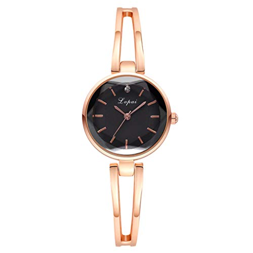 Qingell Watch Simple Casual Fashion Convex Small Exquisite Bracelet Watch,The Metallic Texture of The Surface Shines (E, one Size) ()
