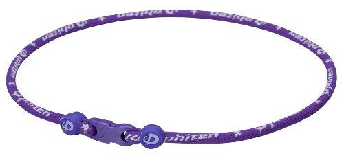 (Phiten Titanium Necklace Star Star Necklace, Purple, 18 )
