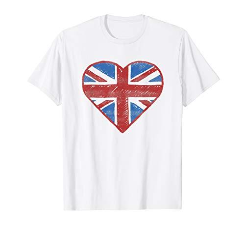 UK Flag T shirt - British Flag Shirt Women Kids Girls -