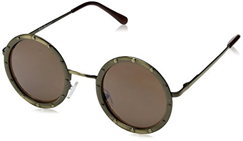 A.J. Morgan Gladiator Round Sunglasses, Antique Gold, 46 mm