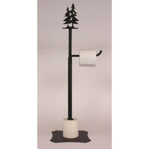 Coast Lamp Manufacturer 15-R23L Iron Double Pine Tree Toilet Paper Stand - Burnt Sienna - 34 in. from Coast Lamp Manufacturer