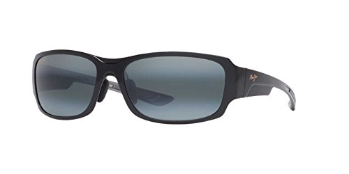 Maui Jim Sunglasses - Bamboo Forest / Frame: Gloss Black Fade Lens: Neutral - Bamboo Jim Sunglasses Maui