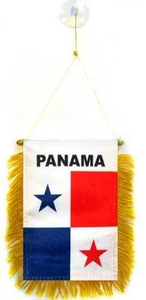 "Panama Mini Flag 4""x6"" Window Banner w/ suction cup"