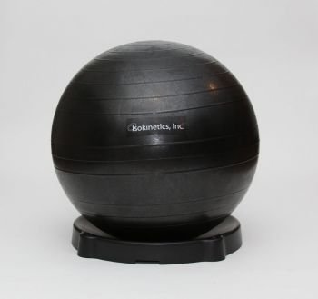 Isokinetics Exercise Ball Chair Seat - 65 cm Black Ball - for Height 5'6'' to 6'1'', Ball Base, and Pump by Isokinetics