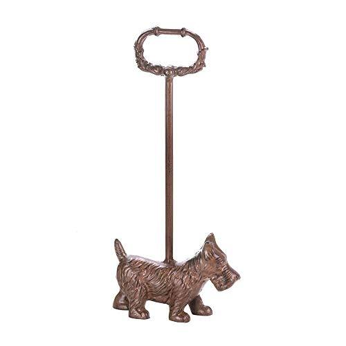 KAIDEE Long Handle Rustic Dog Scottie Terrier CAST Iron Metal Statue Door Stop Stopper