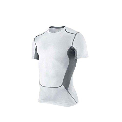 Chemise Manuelle Xl La Coupe ¨¤ Rapide Courtes Course Pour Manches Mengonee Blanc amp; Basketball Pied Football Compression Cyclisme FdgtwBdq