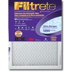 16x25x1, Filtrete Ultra Allergen Reduction Furance Filter Air Filter, MERV 11, by 3m -