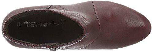 Tamaris 25016, Botines para Mujer Rojo (MERLOT 537)
