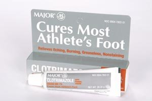 Major Pharmaceuticals 100431 Clotrimazole 1% Anti-Fungal Cream, Compare to Lotrimin-AF, 30gm Volume, White