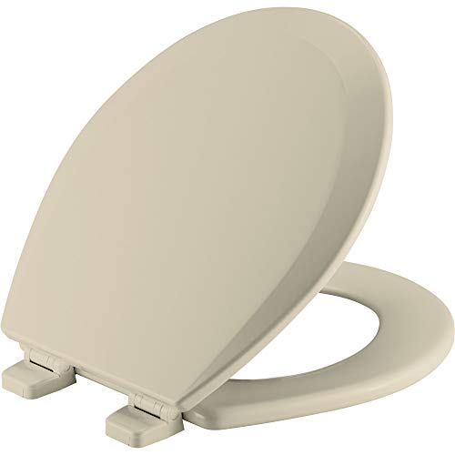BEMIS 500TTT 006 Toilet Seat will Never Loosen and Provide the Perfect Fit, ROUND, -