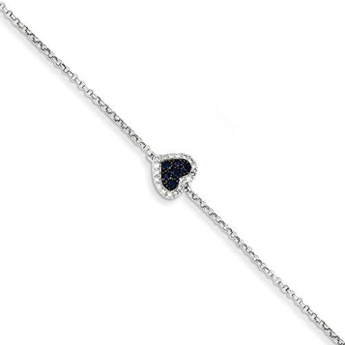Diamond & Sapphire Bangle Bracelet - 5
