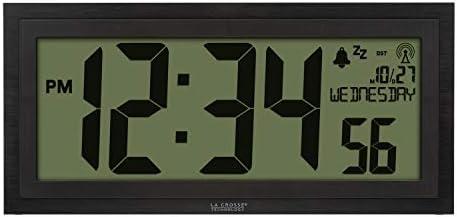 La Crosse Technology 515-1419-INT Atomic Digital Clock, Slate Black