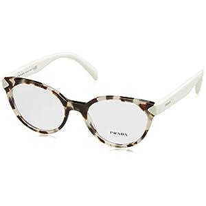 Prada PR01TV Eyeglass Frames UAO1O1-51 - Spotted Opal Brown PR01TV-UAO1O1-51