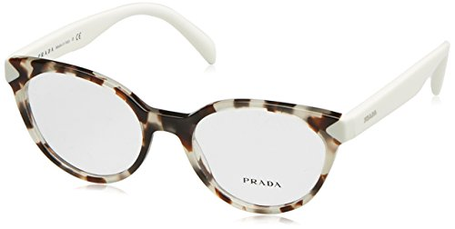 Prada PR01TV Eyeglass Frames UAO1O1-51 - Spotted Opal Brown - Frames Eyeglass Brown