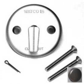 Watco 18702-BZ Trip Lever Overflow Plate Kit, Two Screws, One Cotter Pin, Rubbed Bronze by Watco