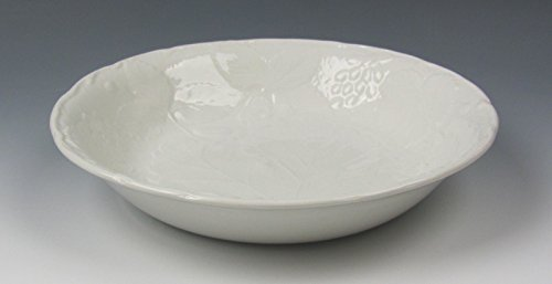 Burgess & Leigh China STRAWBERRY AND GRAPE LEAF WHITE Coupe Soup Bowl(s) -