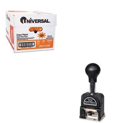 KITAVT9806450UNV21200 - Value Kit - Acco Royall Economy Numbering Machine (AVT9806450) and Universal Copy Paper (UNV21200)