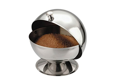 - Zodiac stainless Steel Roll Top Sugar Bowl
