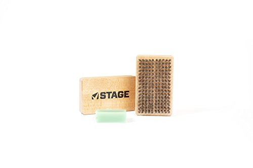 STAGE Ski and Snowboard Horse Hair Tuning Brush with - Tuning Wax